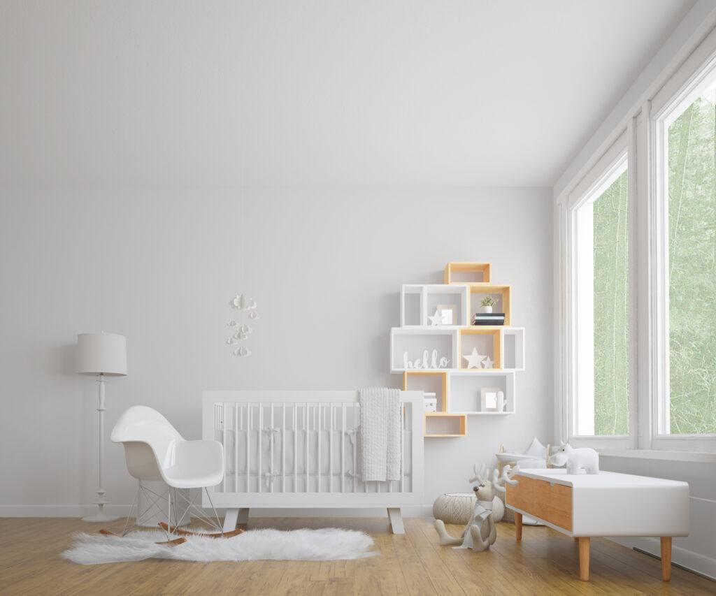 Ambiente pintado de blanco
